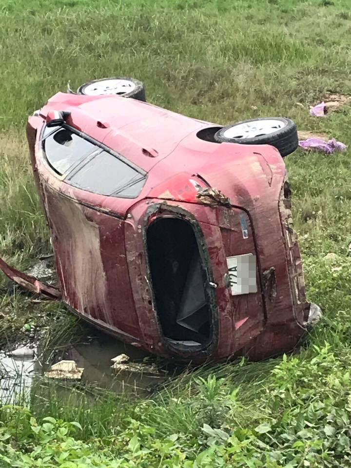 Chiếc Ford Fiesta bị hỏng nặng sau vụ tai nạn