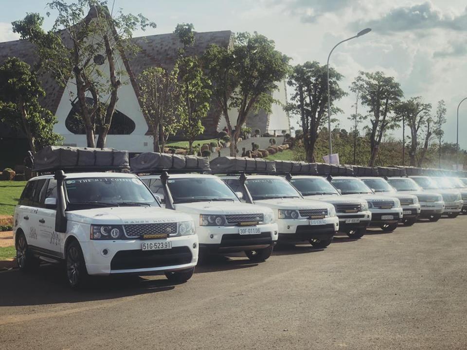 Dàn Range Rover trước khi lên đường tham dự Hành trình từ trái tim 2019