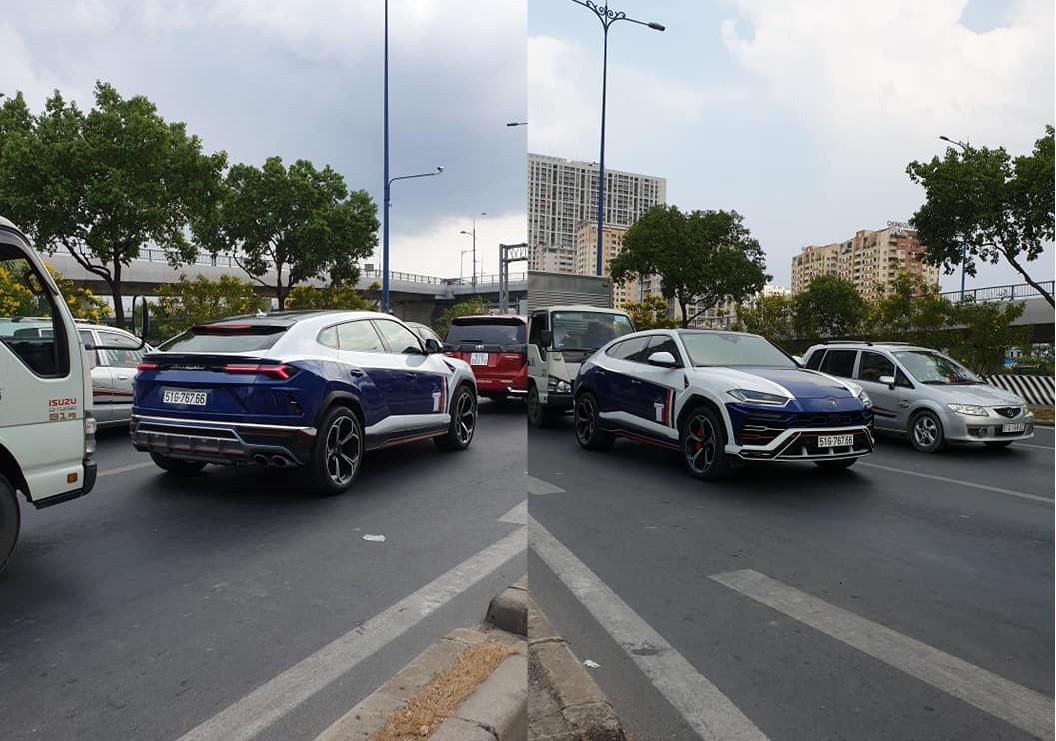 Lamborghini Urus của Minh Nhựa đi dạo trên đường phố Sài thành với bộ mâm hơn 300 triệu đồng