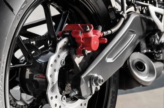 Hệ thống treo hiện đại và hệ thống chống bó cứng phanh ABS kênh đôi của CB150R