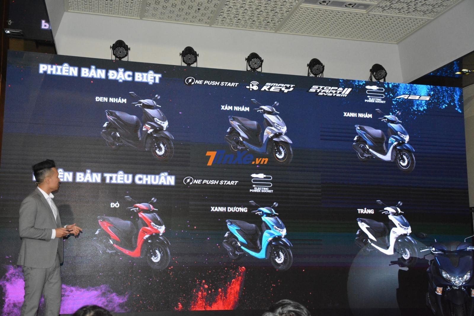 Các tùy chọn màu của Yamaha FreeGo và FreeGo S