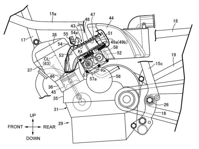 Bố trí hệ thống phun xăng trên Honda CBX thế hệ mới