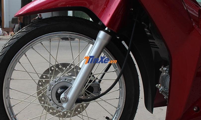 Hệ thống treo trước của Honda Wave 125i nhập từ Thái Lan dạng ống lồng