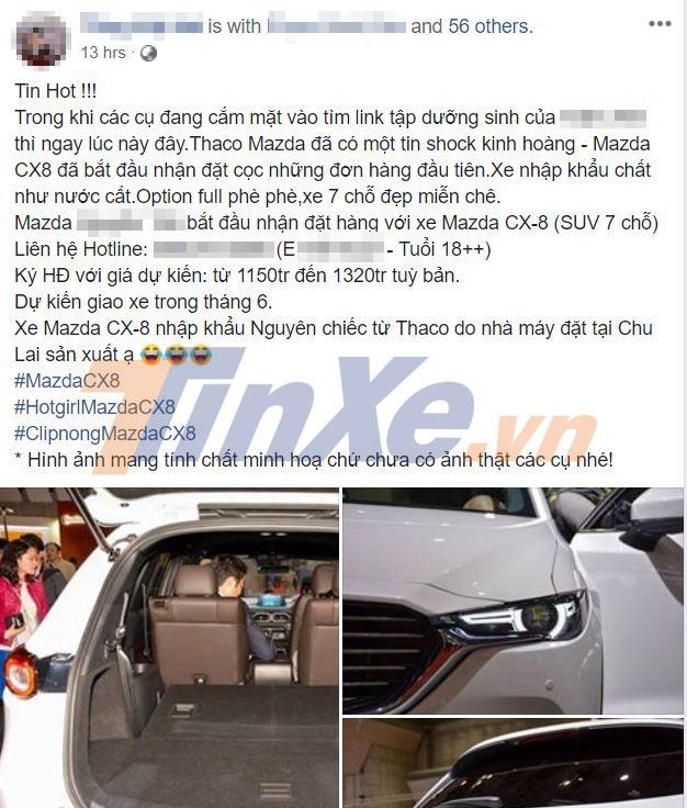 Các đại lý chính hãng đã bắt đầu nhận cọc Mazda CX-8
