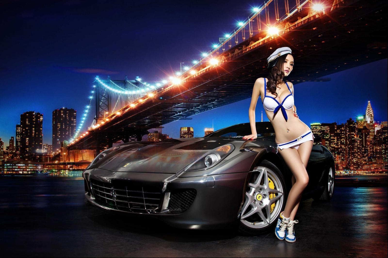 Đêm lãng mạn giữa người đẹp bốc lửa Y Ngạn và Ferrari 599