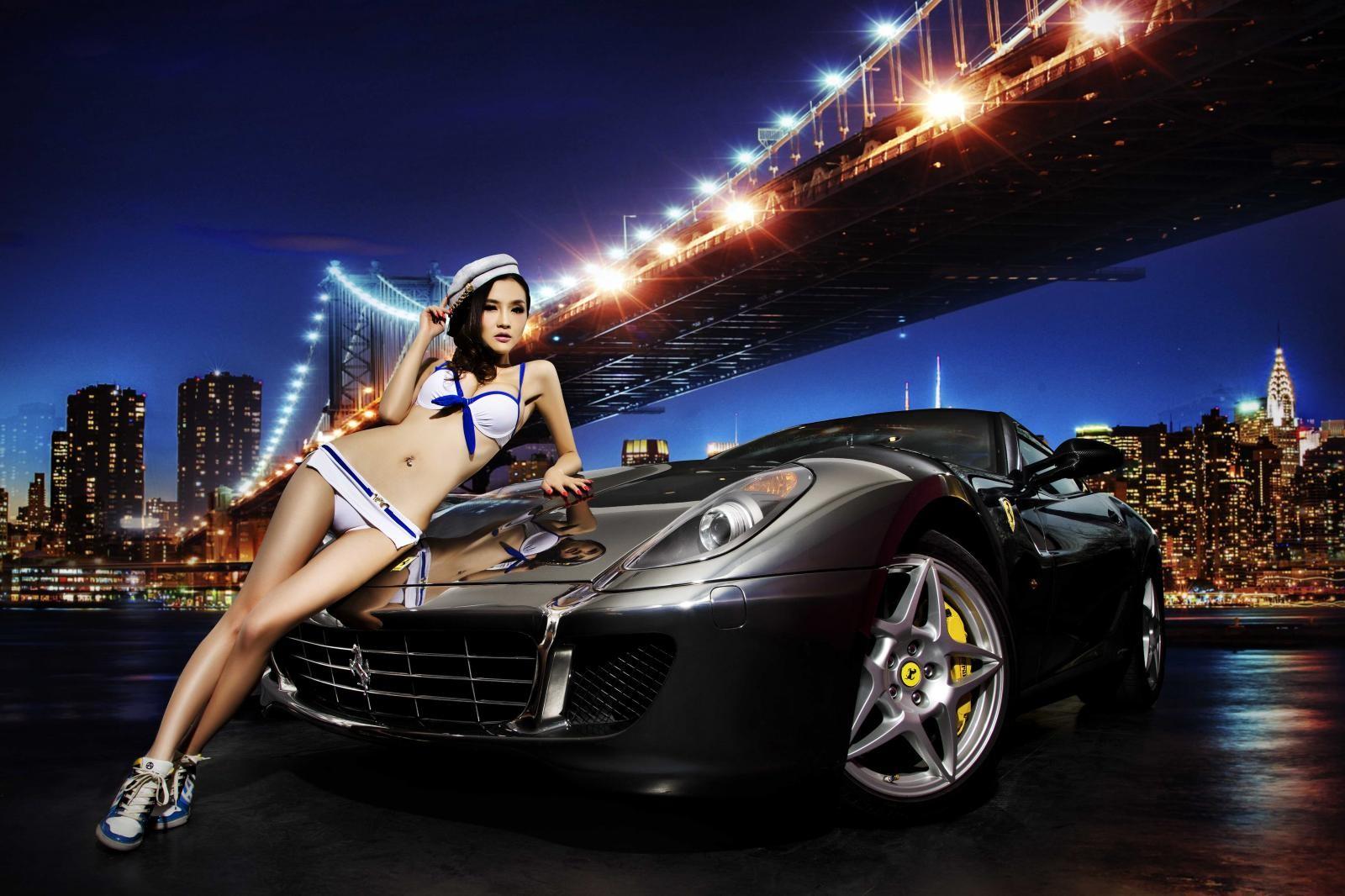 Đêm lãng mạn giữa người đẹp bốc lửa Y Ngạn và Ferrari 599 - 2
