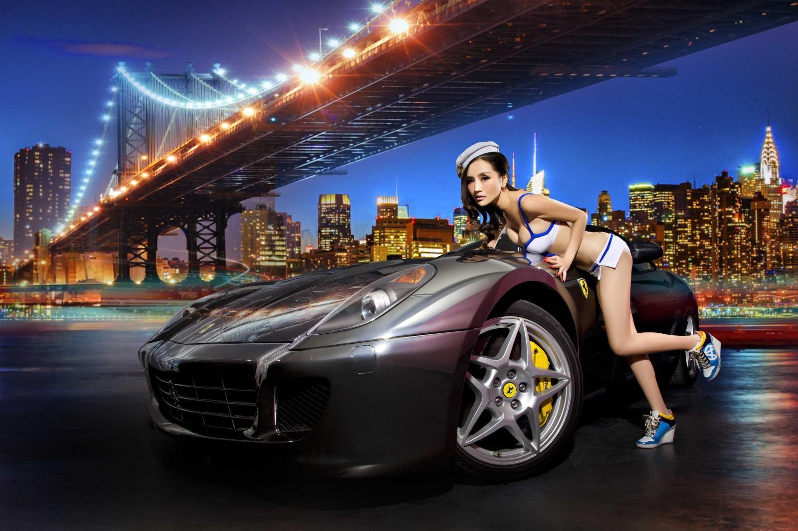 Đêm lãng mạn giữa người đẹp bốc lửa Y Ngạn và Ferrari 599 - 3