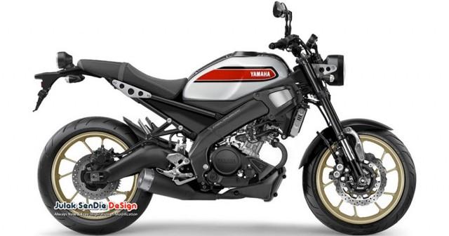 Yamaha XSR155 được phát triển trên nền tàng khung gầm và động cơ của Yamaha MT-15