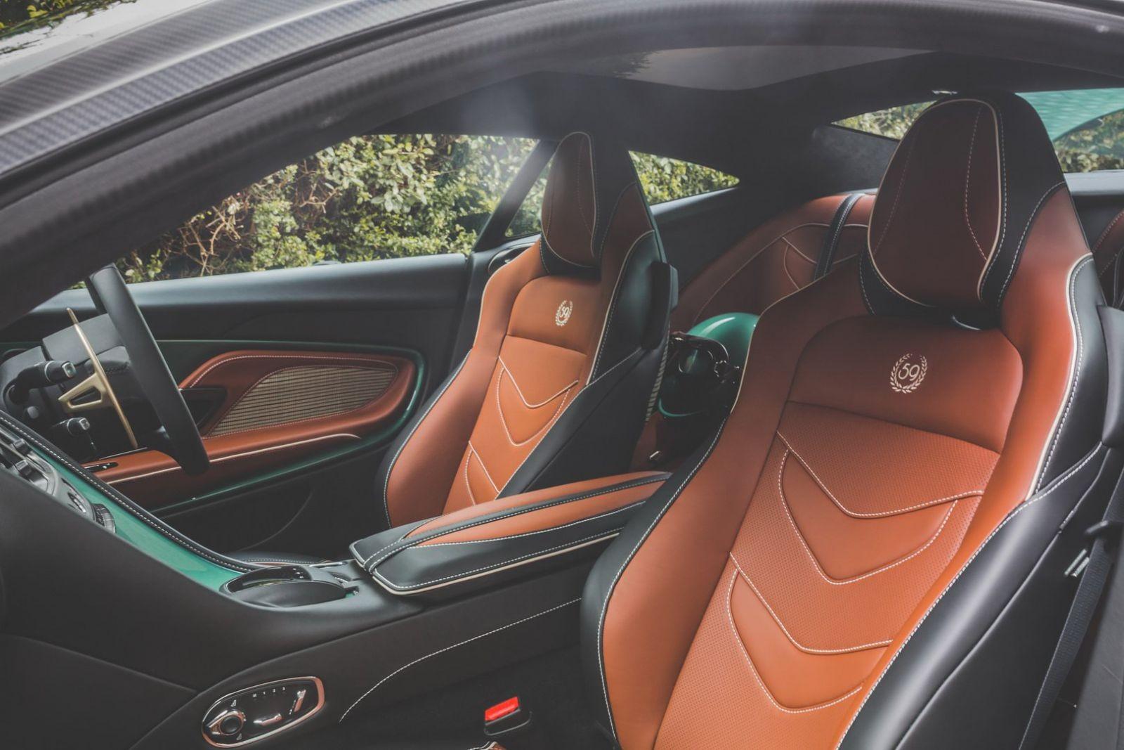 Nội thất siêu xe Aston Martin DBS 59 Edition