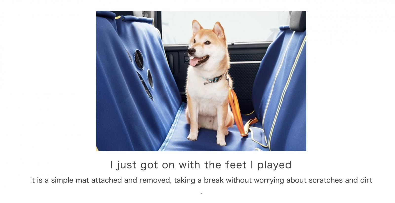 Với tẩm thảm chó Honda, bạn có thể cho chó lên xe mà không ngại bẩn