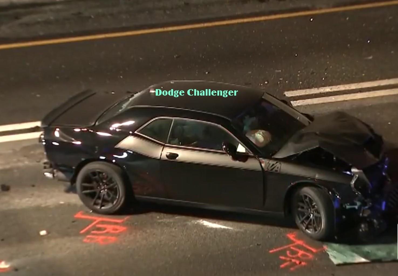 Chiếc Dodge Challenger trên đường chạy trốn đã gây tai nạn kinh hoàng khiến 6 người bị thương và 1 người thiệt mạng