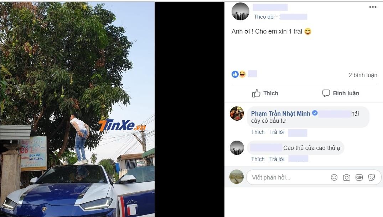 Minh Nhựa bình luận đứng trên nóc Lamborghini Urus hái trái cây có đầu tư
