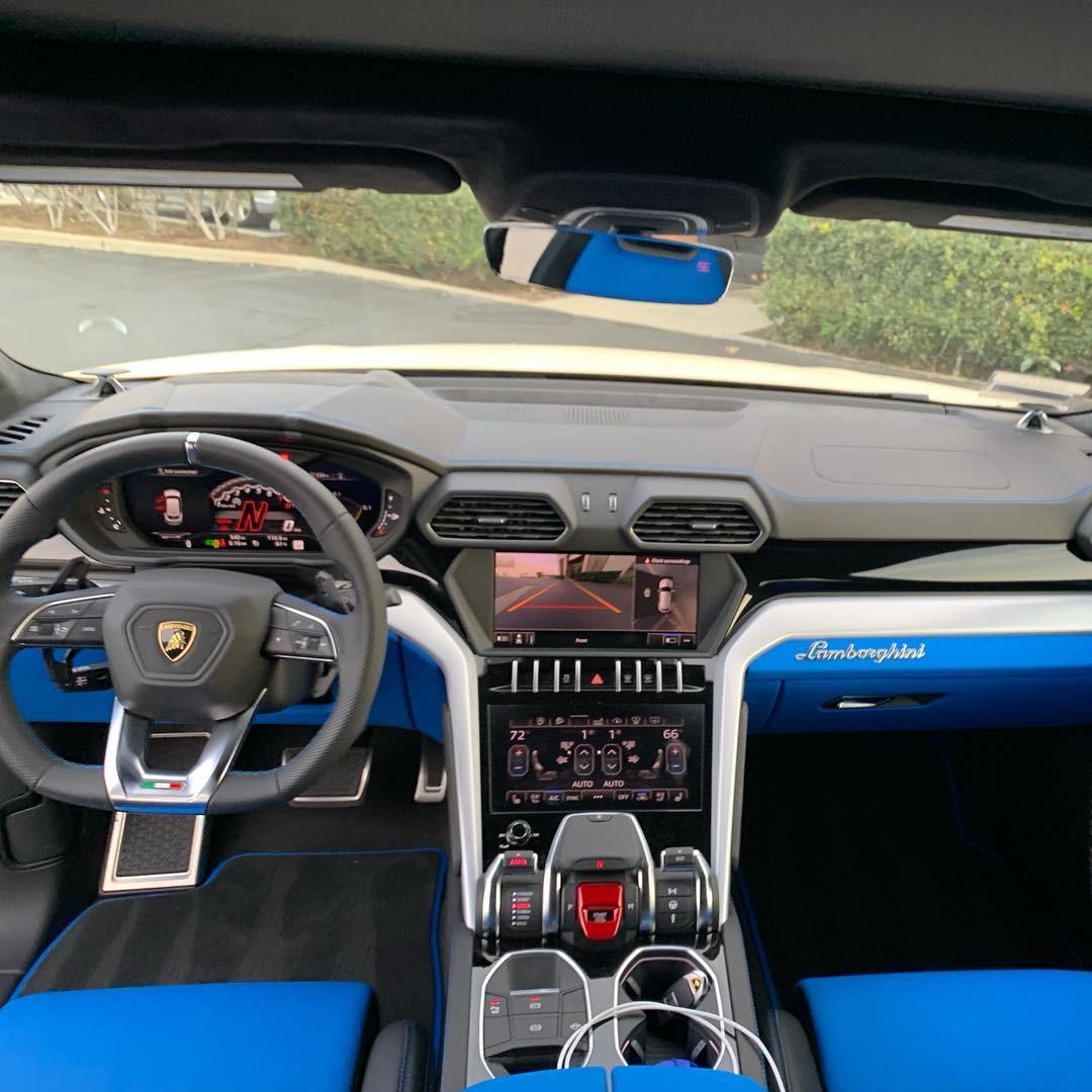 Nội thất bên trong chiếc Lamborghini Urus của chồng cô Kim siêu vòng ba