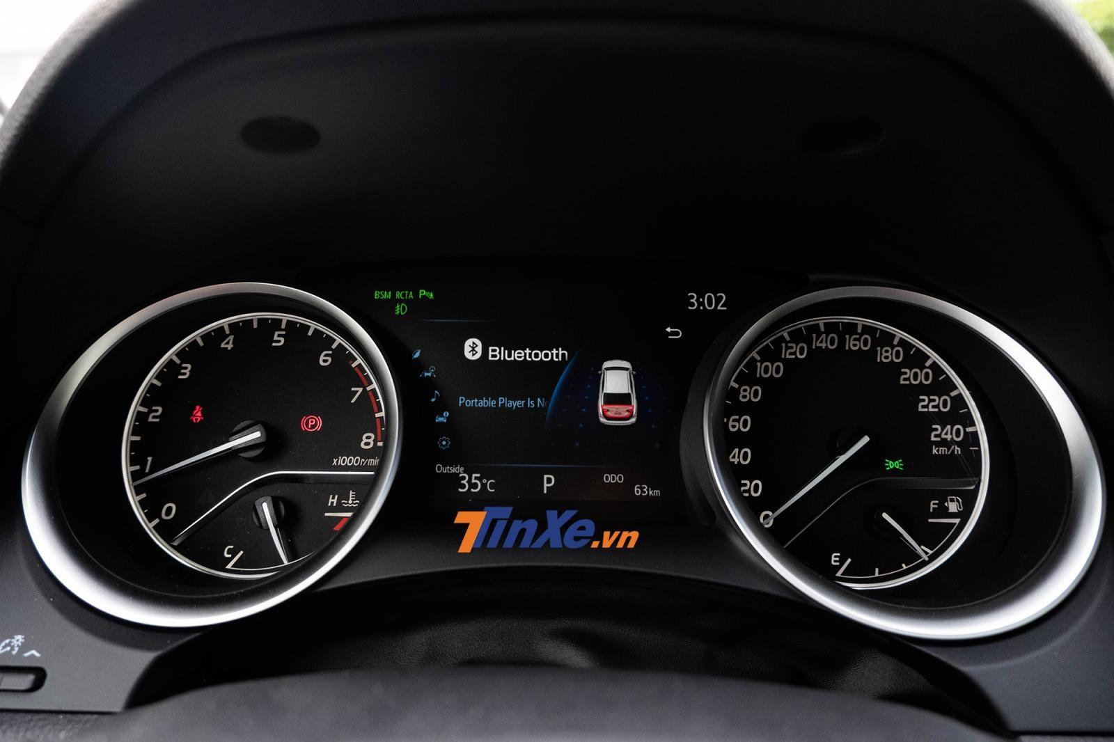 Cụm đồng hồ Optitron phối hợp cùng màn hình TFT 7 inch trên bản 2.5Q còn màn hình trên bản 2.0G sẽ chỉ có cỡ 4,2 inch