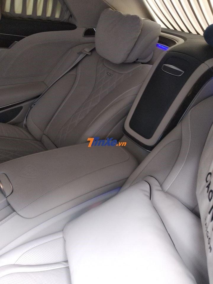 Nội thất xe siêu sang Mercedes-Maybach S600 Pullman hơn 60 tỷ đồng của Chủ tịch FLC