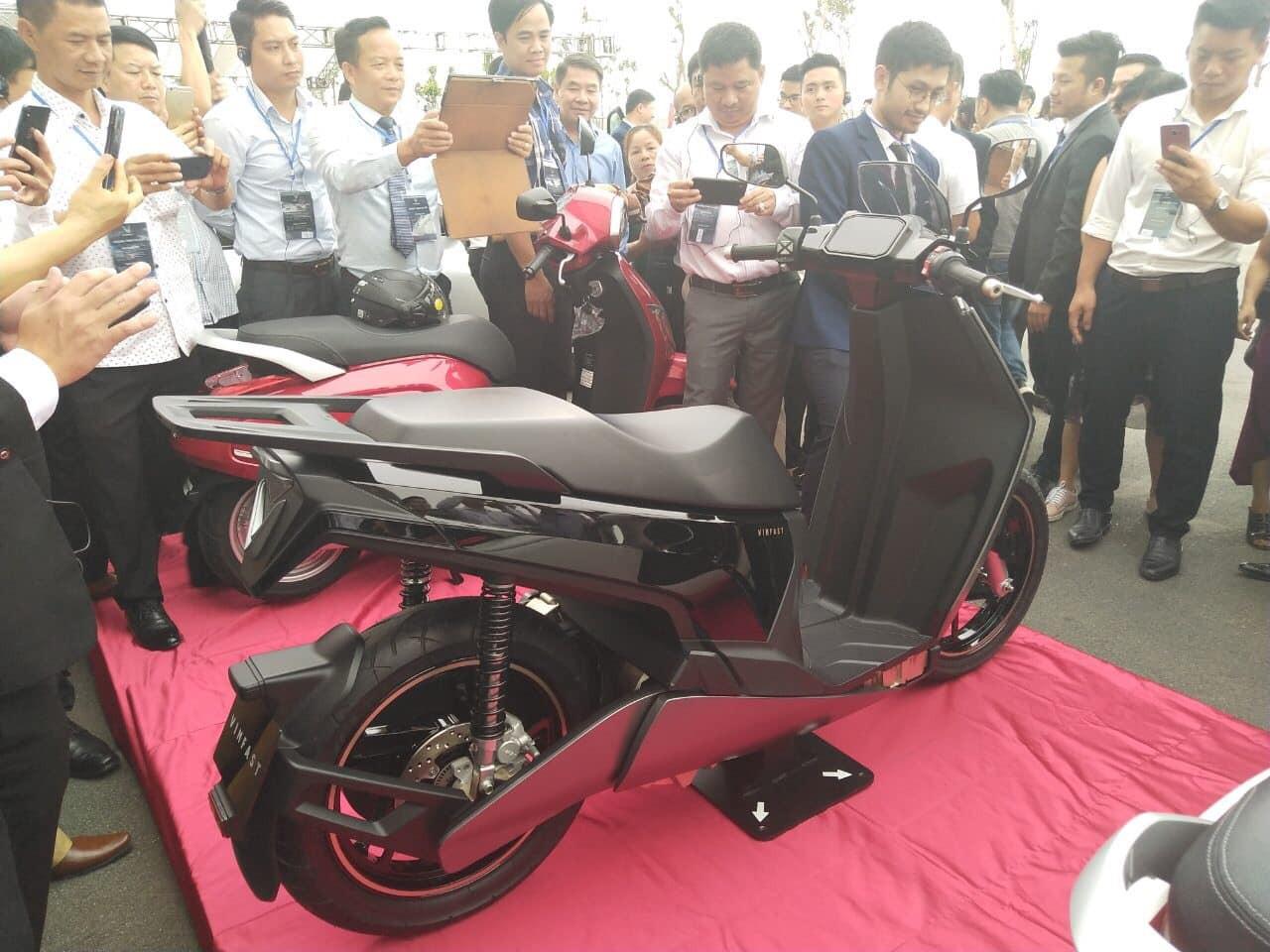 Hình ảnh về chiếc xe mới được cho là sản phẩm xe máy điện mới nhất của Vinfast
