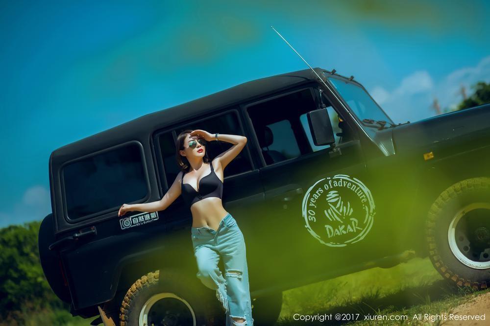 """Mỹ nhân khoe thân thể khỏe khoắn, vòng 1 căng đầy cùng xe """"Jeep Trung Quốc"""" - 10"""