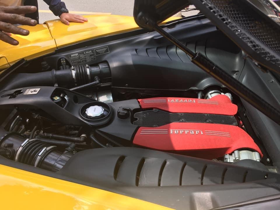 Động cơ V8 tuyệt đẹp của siêu xe Ferrari 488 GTB tại Đồng Nai
