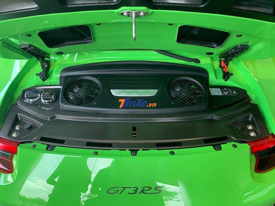 Siêu xe Porsche 911 GT3 RS đời 2019 có công suất động cơ tăng 20 mã lực lên mức 520 mã lực