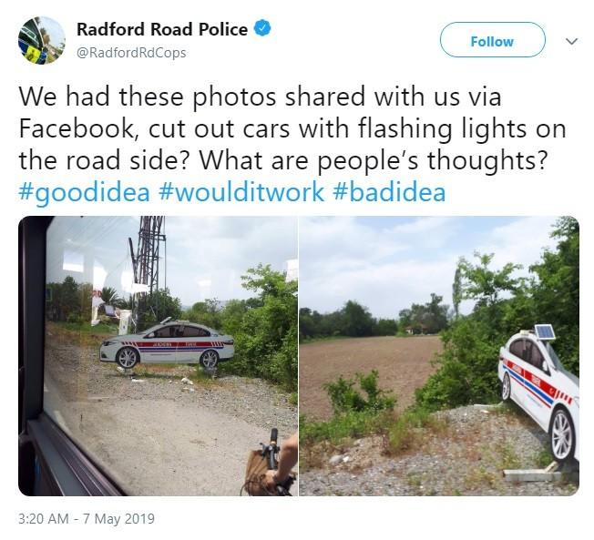Cảnh sát Radford ở Anh Quốc hỏi ý kiến người dân trên Twitter