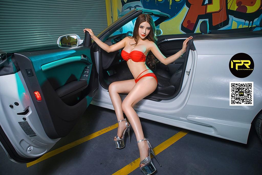 Chân dài khoe thân hình đẫy đà bên Audi A5 mui trần - 2