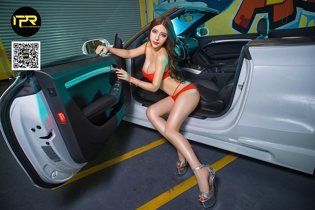 Chân dài khoe thân hình đẫy đà bên Audi A5 mui trần - 5