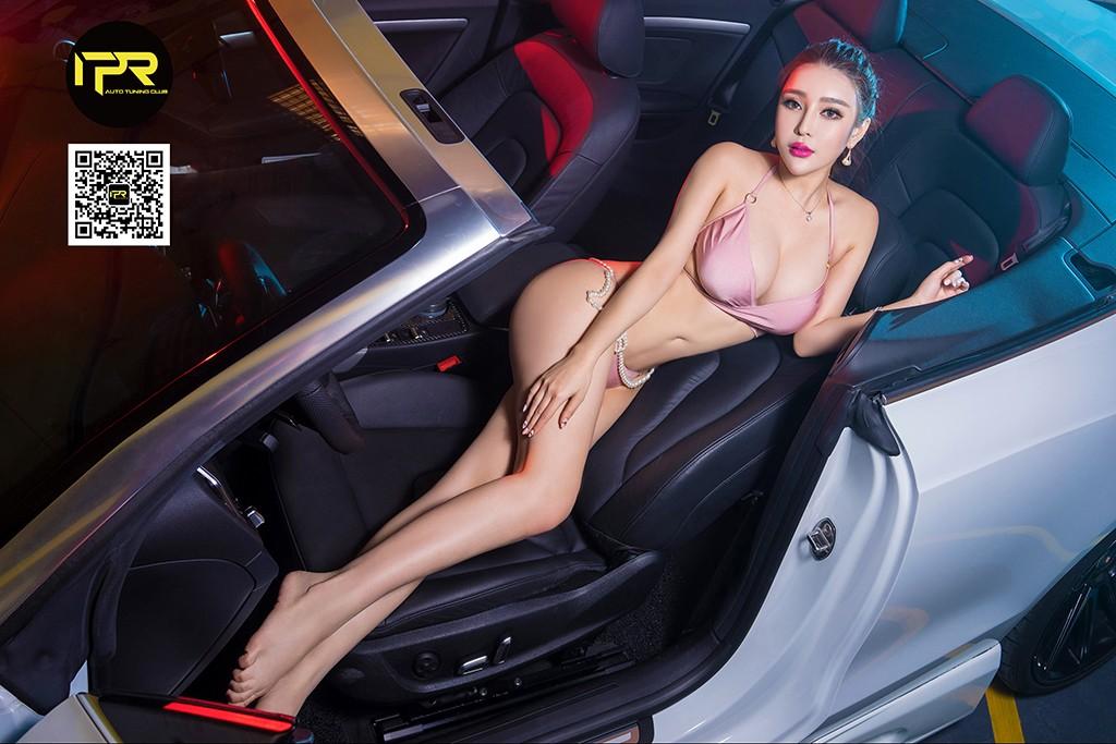 Chân dài khoe thân hình đẫy đà bên Audi A5 mui trần - 6