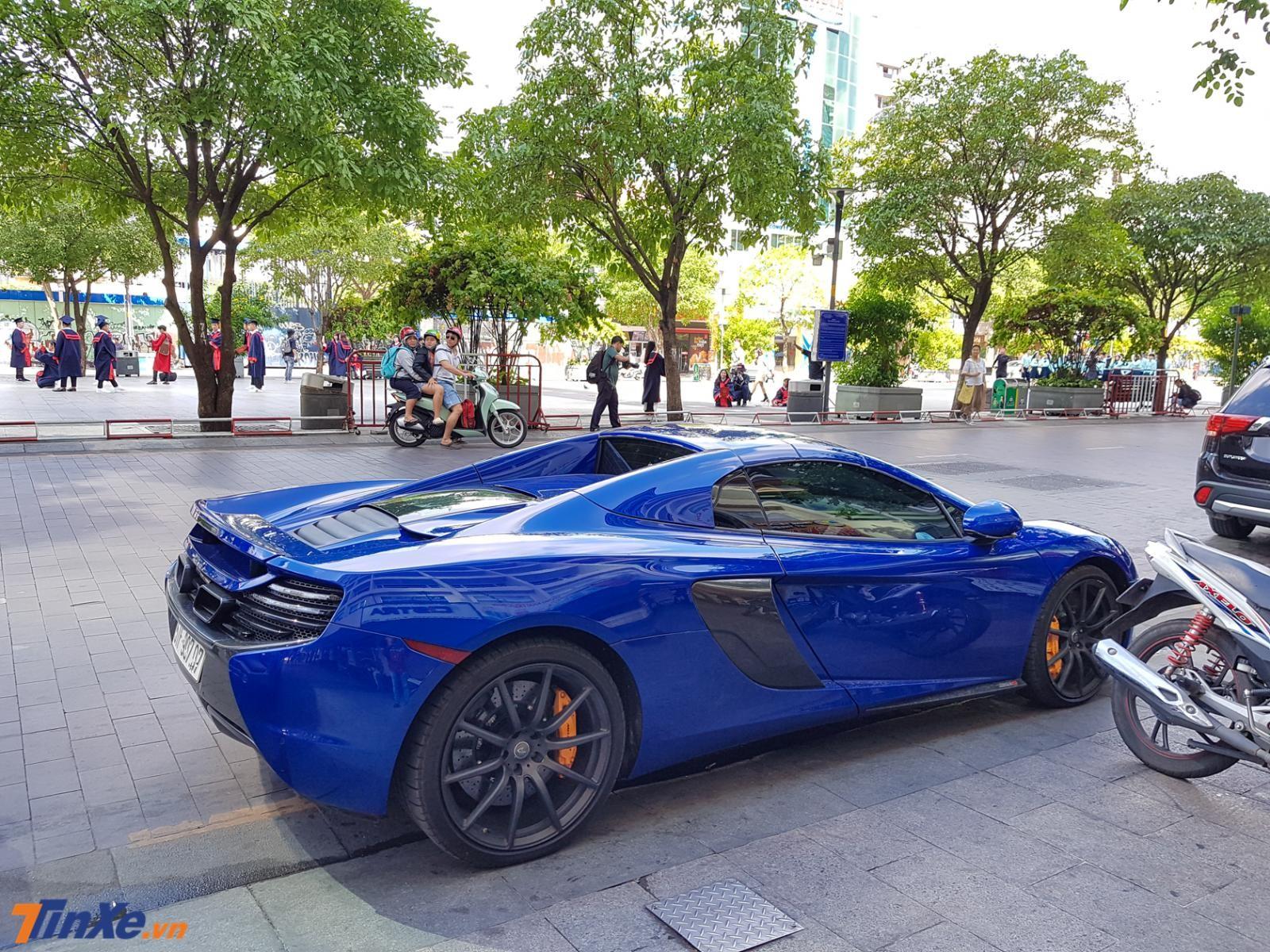 McLaren 650S Spider mang màu xanh dương độc nhất Việt Nam
