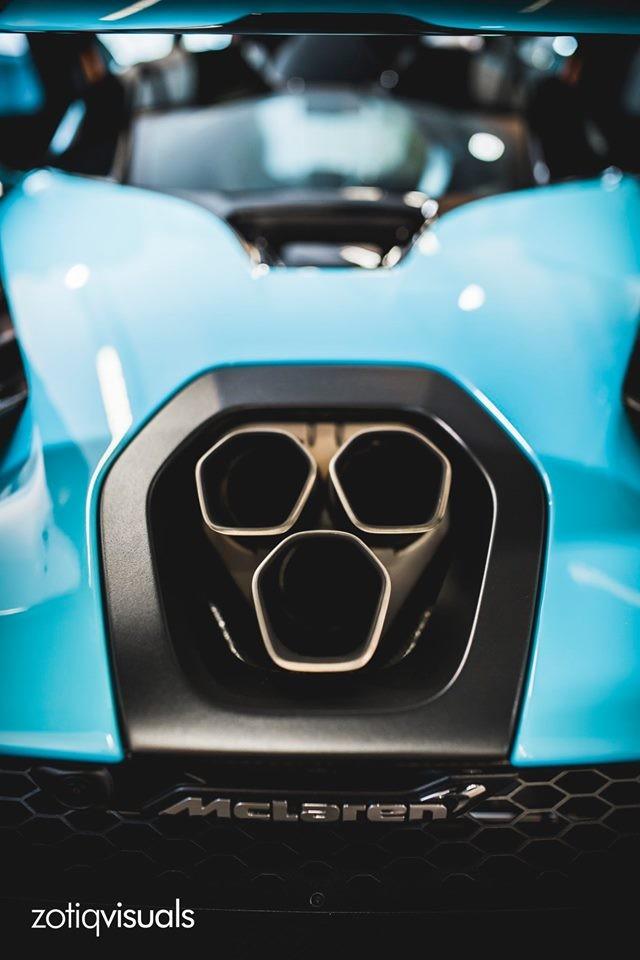 McLaren Senna sở hữu khối động cơ xăng V8, tăng áp kép, dung tích 4.0 lít