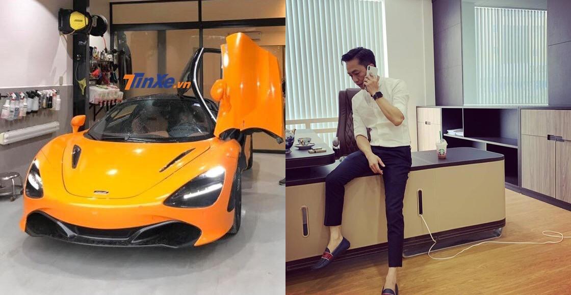 Cường Đô-la được cho đứng sau cú điện thoại mang siêu xe McLaren 720S màu cam bí ẩn quay lại Sài thành
