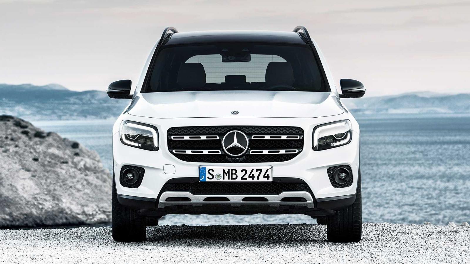 Cận cảnh thiết kế đầu xe của Mercedes-Benz GLB 2020