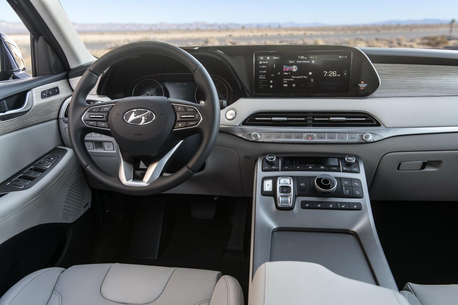 Nội thất bên trong Hyundai Palisade 2020 bản cao cấp