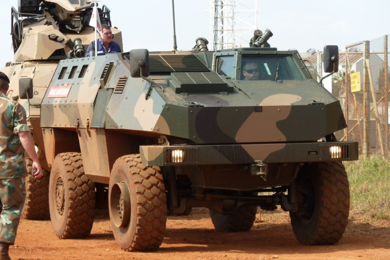 RG-34 cung cấp khả năng bảo vệ rất tốt cho binh lính bên trong