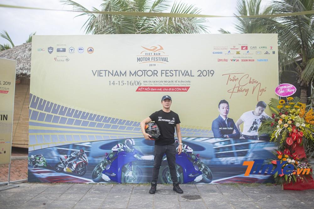 MC Anh Tuấn - đại sứ của sự kiện Đại hội Mô tô Việt Nam 2019.