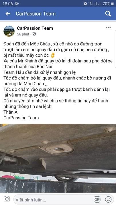 Chia sẻ của ban tổ chức Car Passion thông qua trang chính CarPassion Team