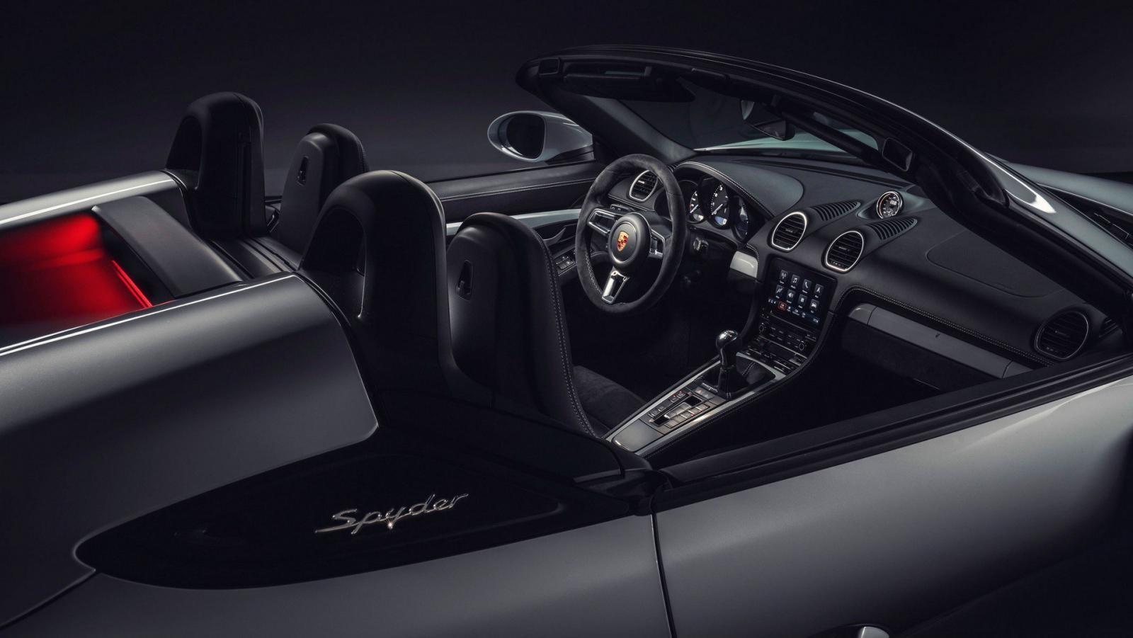 Nội thất bên trong Porsche 718 Boxster Spyder 2020