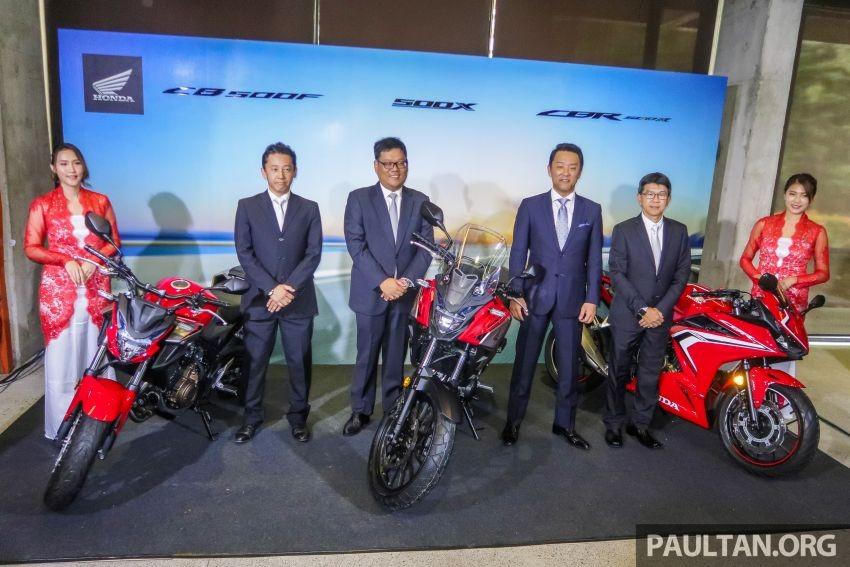 Bộ ba Honda CB500F, CB500X và CBR500R phiên bản 2019 vừa ra mắt tại Malaysia