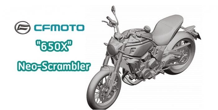 Thiết kế xe Scrambler CFMoto 650X