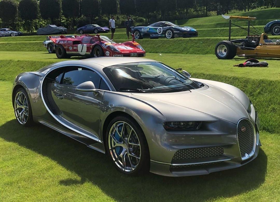 Chiếc Bugatti Chiron Sport tại một sự kiện xe ở Anh