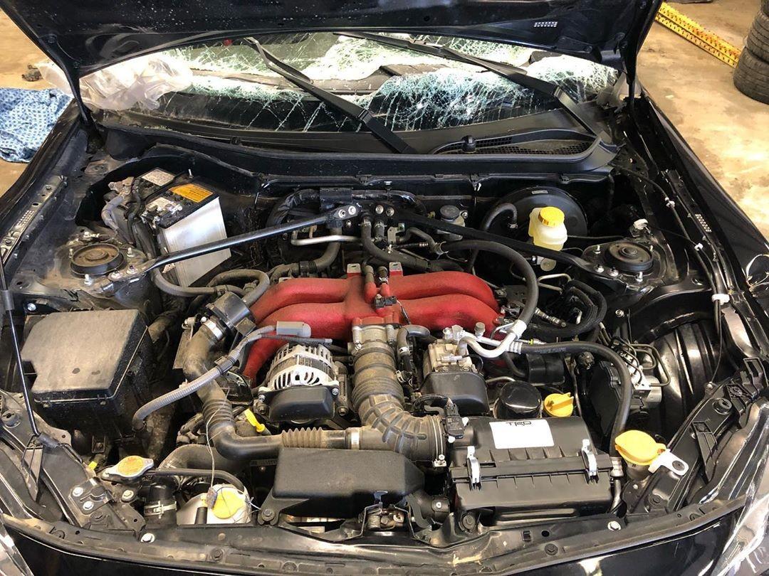 Động cơ của chiếc Toyota 86 đã được tháo ra và bán cho chủ mới
