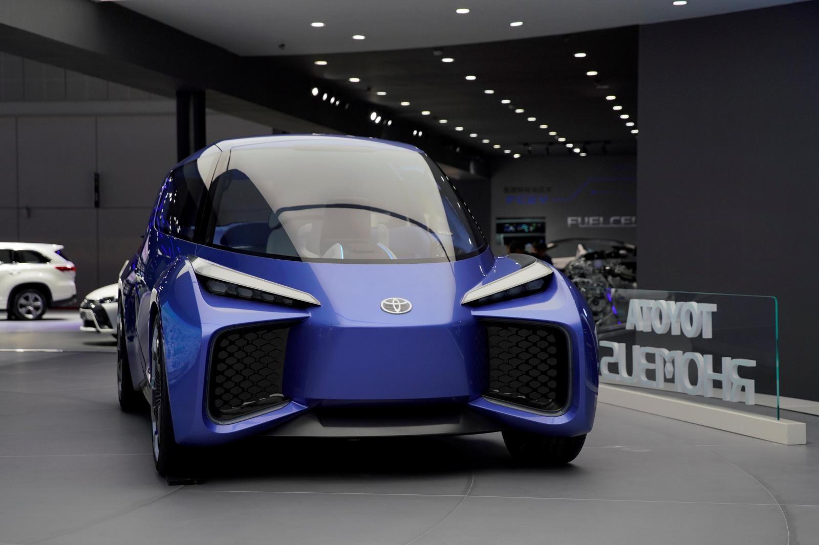 Mẫu xe điện concept Toyota Rhombus được trưng bày ở Triển lãm Ô tô Thượng Hải 2019