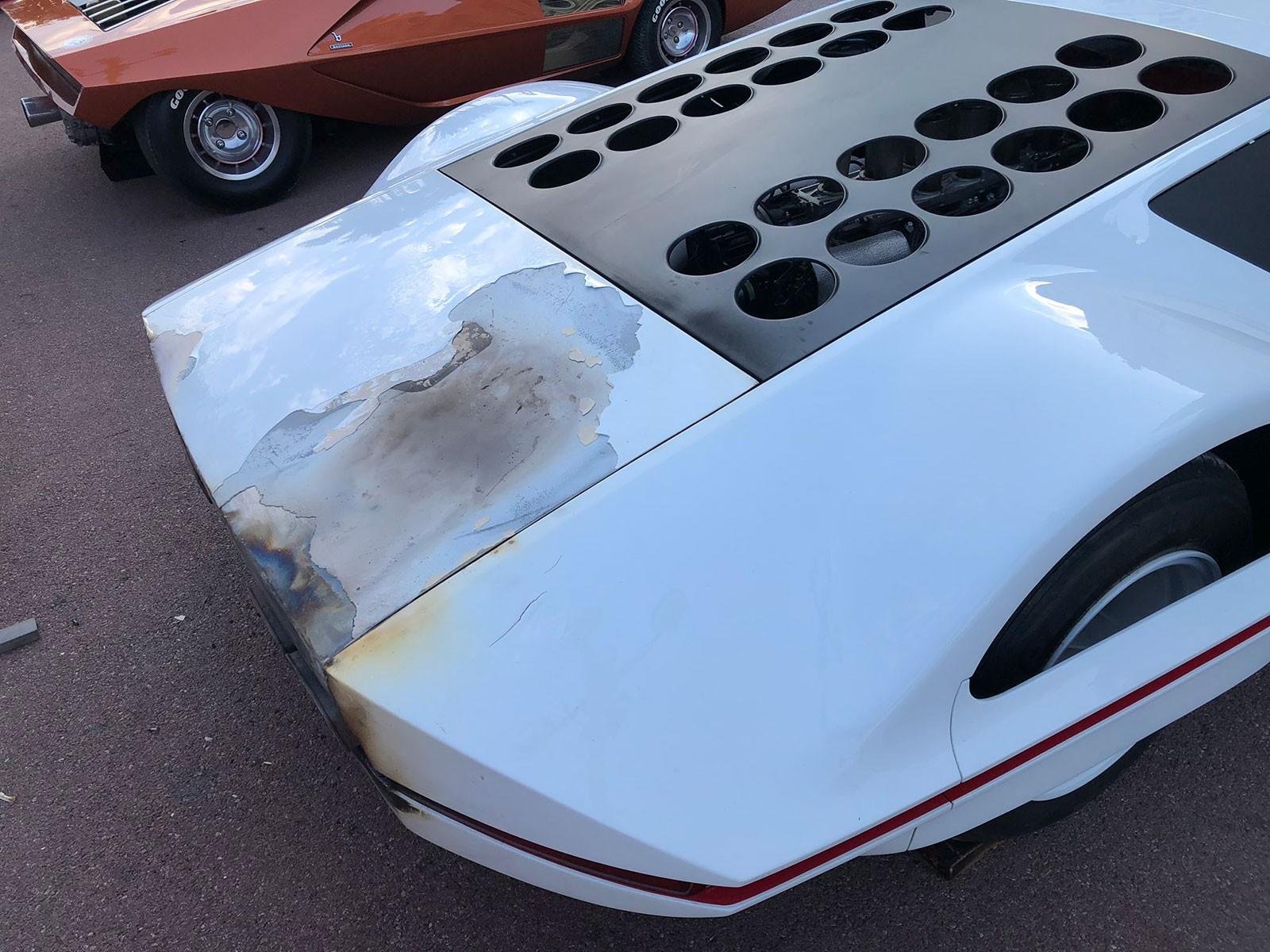 Chiếc siêu xe concept độc nhất vô nhị không bị hỏng đáng kể sau vụ cháy