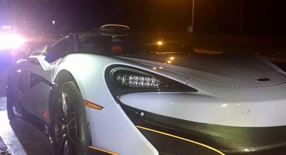 Mới mua siêu xe McLaren 600LT bản giới hạn được 10 phút, chủ nhân phải giao nộp xe cho cảnh sát