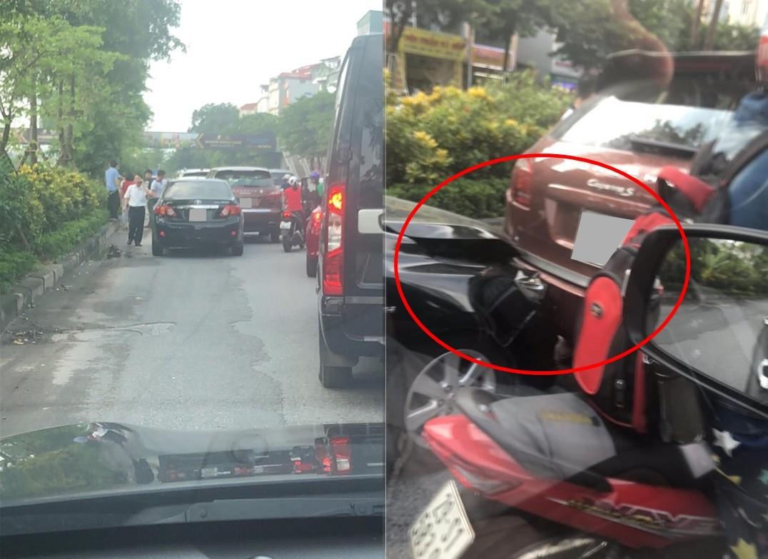 Vụ tông xe dây chuyền của 4 chiếc ô tô trên đường Võ Chí Công, Hà Nội vào sáng nay