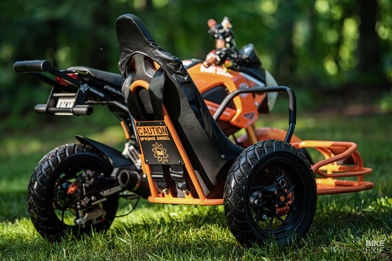 Named after the syndrome the younger brother suffered, the sidecar is called Project Angel