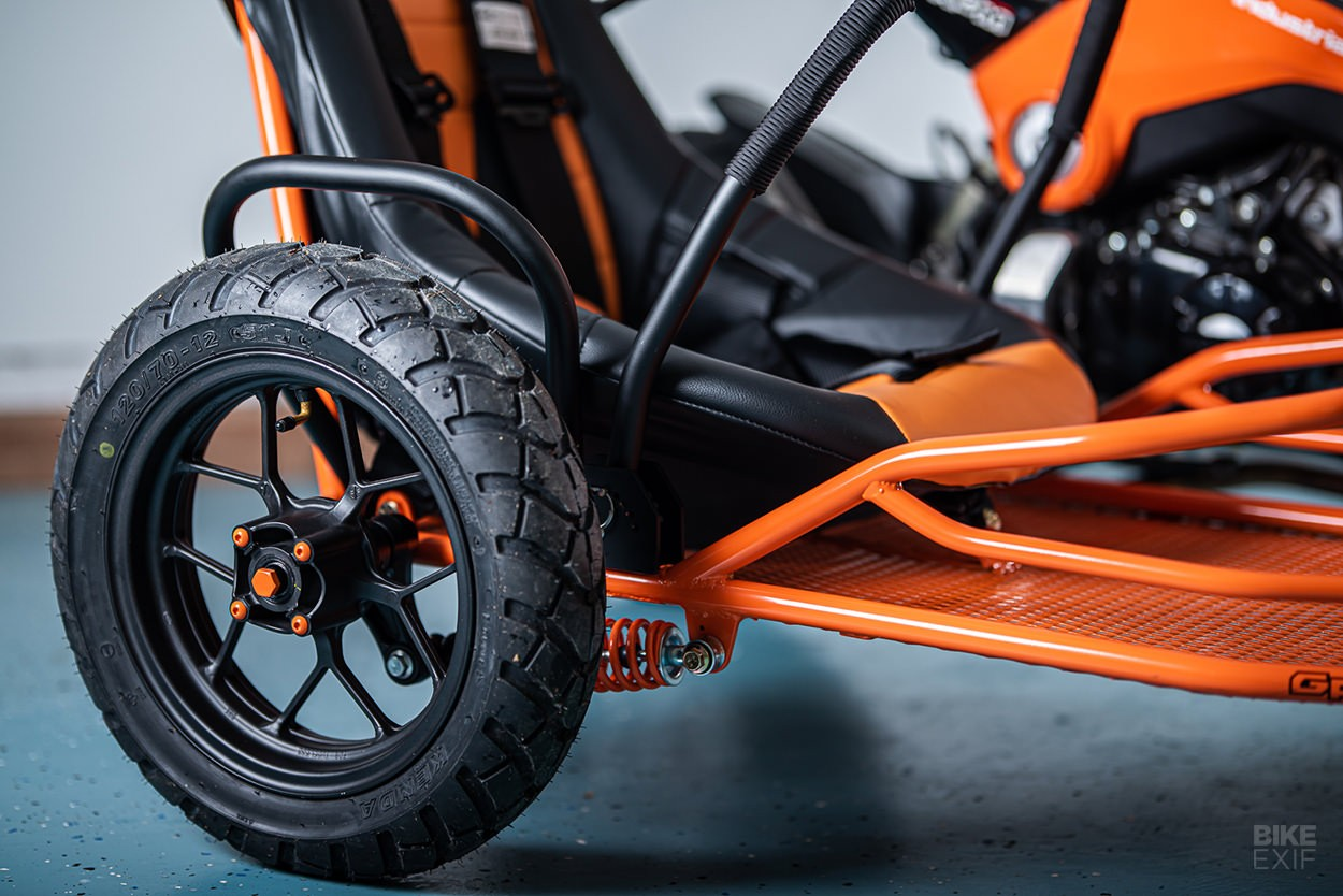 Fully equipped as separate shock absorber fork and large wheels