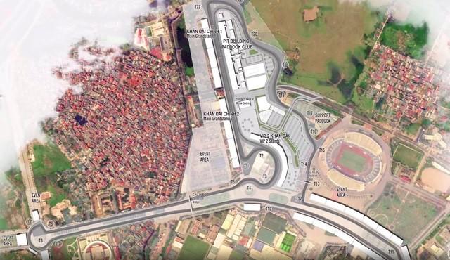 Thiết kế đường đua F1 tại Hà Nội