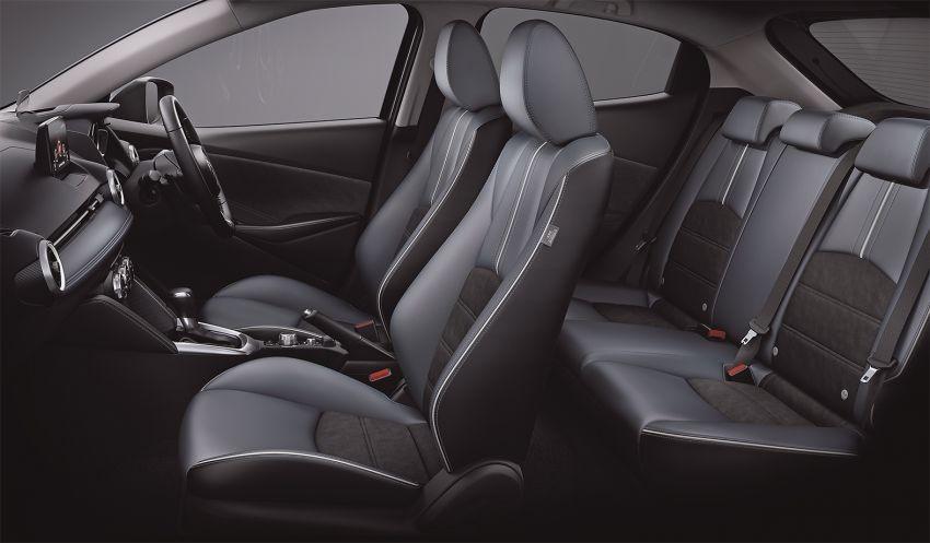 Ghế của Mazda2 2019 chỉ được bọc một phần bằng da