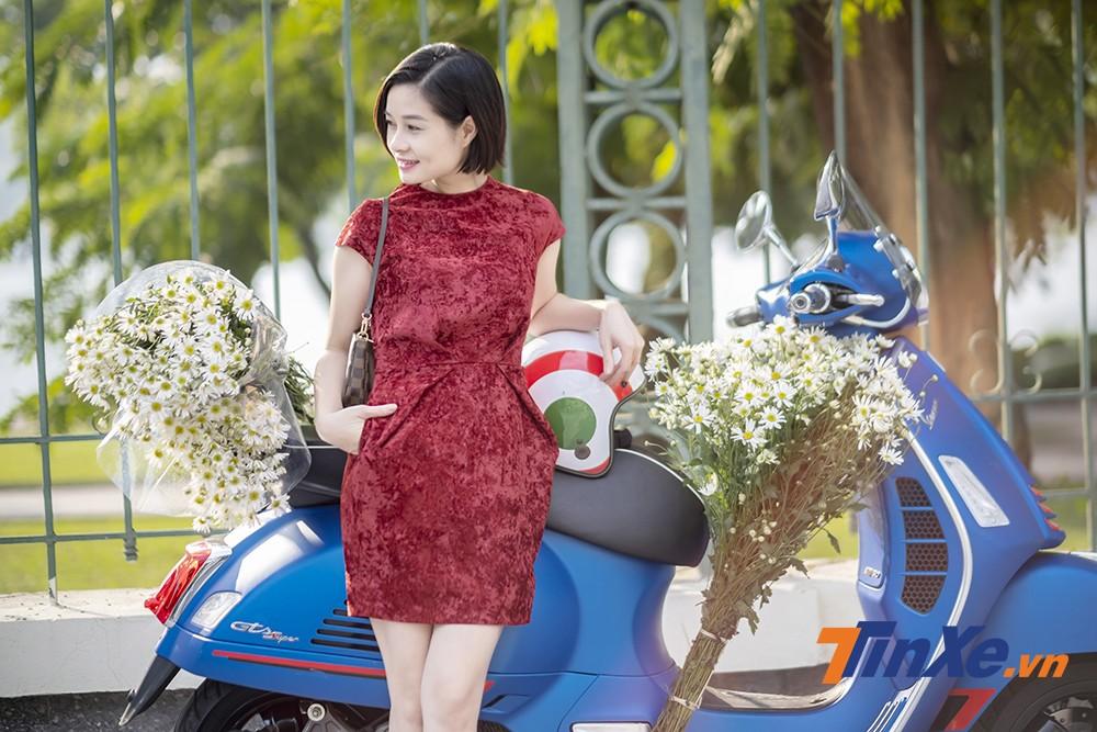 Lãng mạn đầu đông cùng người đẹp Hà thành, cúc họa my và Vespa - 5