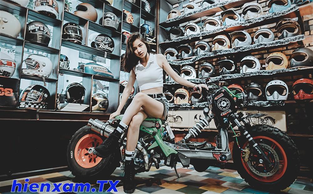 Cô nàng cá tính bên Honda Zoomer độ trục cơ sở kéo dài - 12